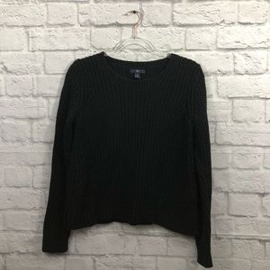 GAP oversized crew neck black knitted sweater